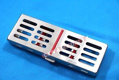 German Dental Sterilization Cassette Rack Tray Box For 5 Surgical Instruments