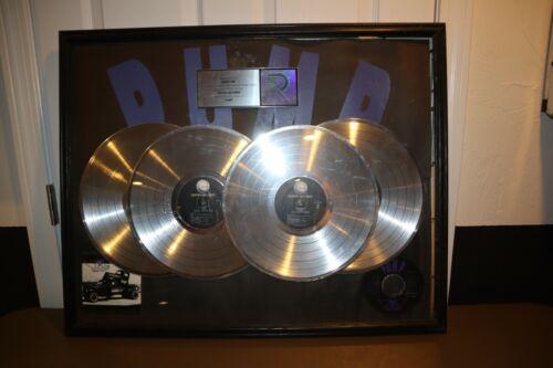 Aerosmith RIAA 4X Platinum Record Award Framed Presented Plaque PUMP *VERY RARE*