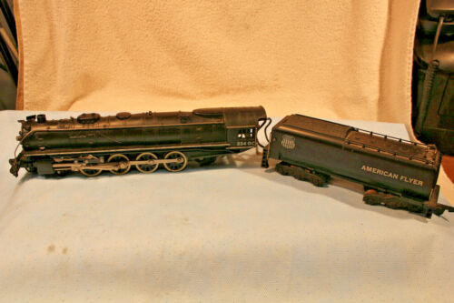 AMERICAN FLYER S GAUGE No.334DC UNION PACIFIC 4-8-4 NORTHERN LOCOMOTIVE 7 WHIST