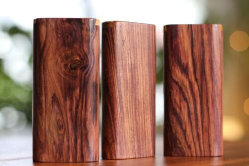 """4"""" Honduras Wood Dugout with One Hitter- Slider Lid- Perfect Gift"""