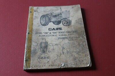 Case Models 700 800 Agricultural Tractors Parts Catalog Bookmanual No. 630