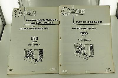 Vintage Onan Deg Series Generator Genset Operators Manual Parts Catalog