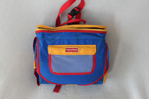 1990 FISHER PRICE Red/Blue Chair Seat High Booster Toddler Backpack