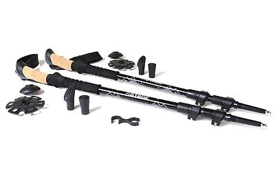 Stage Aluminum Quick Lock Trekking Hiking Poles with Cork Grips - All - Aluminum Hiking Pole
