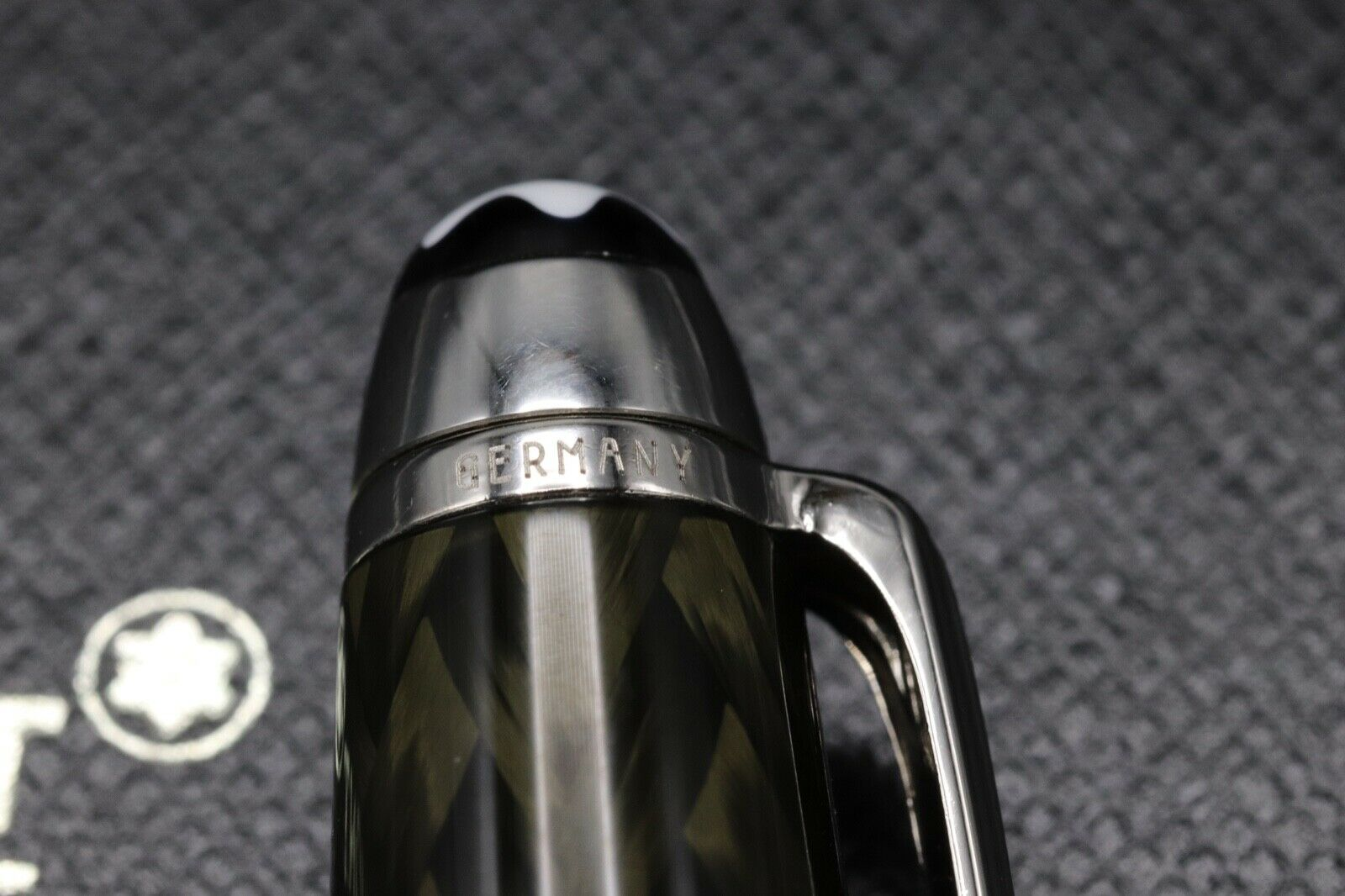 Montblanc Meisterstuck 144 Classique Carbon Steel Fountain Pen 7
