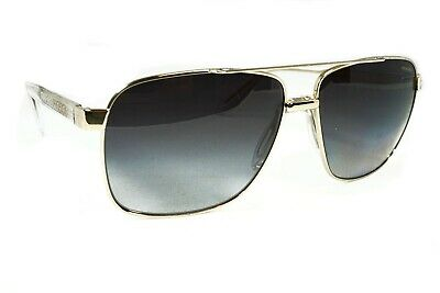 Versace Men's VE2174 1252T3 Pale Gold/ Polarized Gray Gradient Sunglasses New