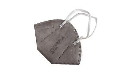 5 Stück • FFP2-Maske GRAU (bunt) • mit Schaumstoff-Nasenauflage • PREMIUM