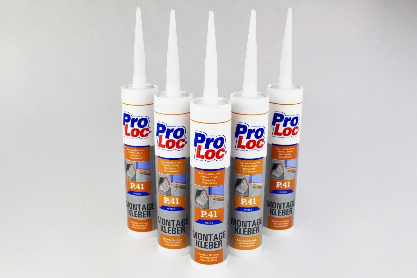 5 Kartuschen Montagekleber Baukleber Kleber hohe Haftung Frostfest ProLoc P41