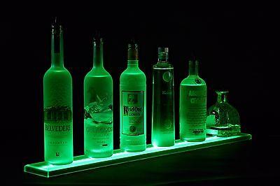 Armana Acrylic New 2 Ft 2 Inch Led Lighted Liquor Bottle Shelf Wall Mount Bar