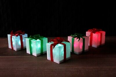 5pc LED Christmas Present Box Lights Parcel Gift Decoration Xmas Festive Home  ()