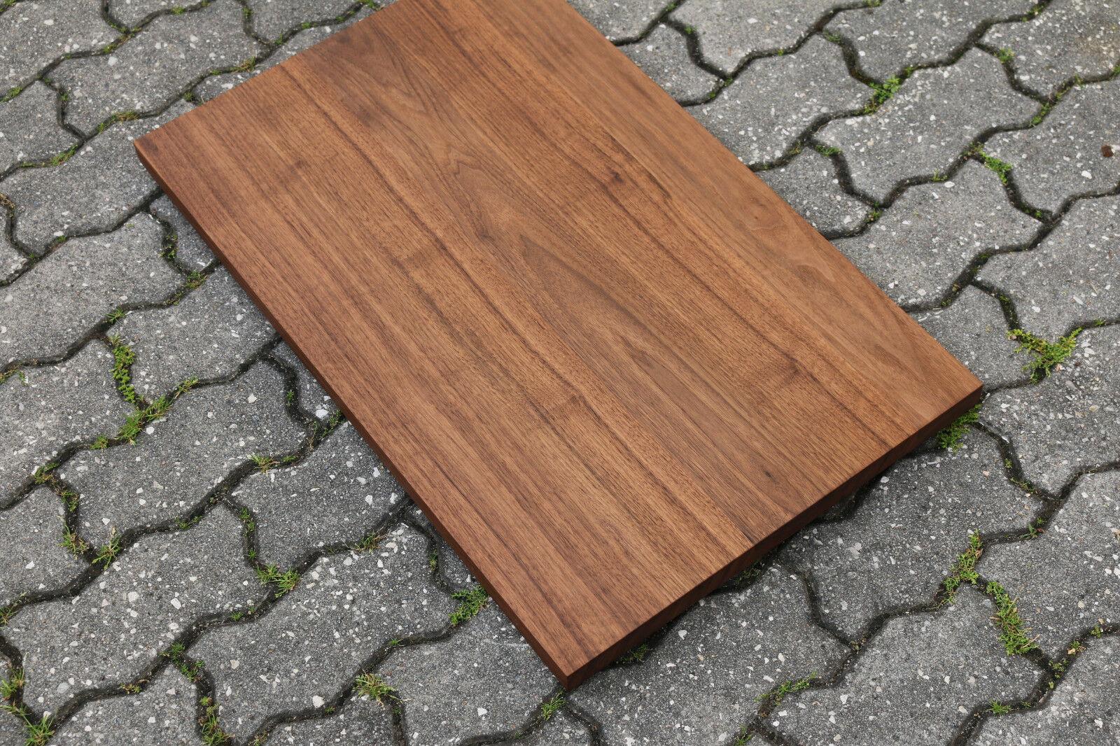 tischplatte platte nussbaum massiv holz neu regalbrett tisch leimholz brett eur 240 00. Black Bedroom Furniture Sets. Home Design Ideas