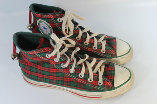 Converse All Star Hi Top Christmas Plaid Made In The USA M Size 6