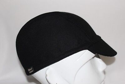 3f38fd6263a Cycling cap wool black color one size orany size 100% handmade