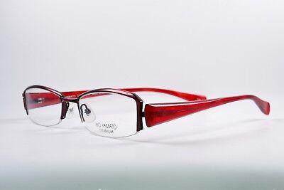 KIO YAMATO Brille KT267-31 Titanium Angular Eye Frame Made in Japan Half Rim NOS