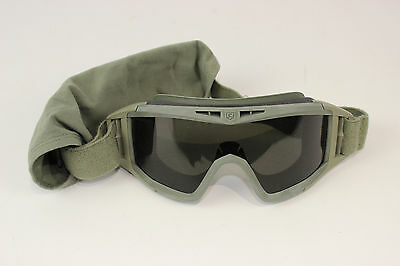 Used Foliage Green Sage Military GI Genuine Issue Army Goggles
