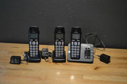 Panasonic Cordless Phone Set 3 Handsets KX-TGE230 DECT 6.0 Digital Answer