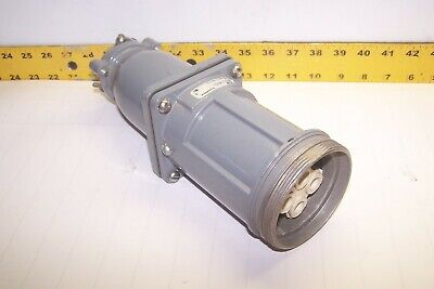 Russellstoll 60 Amp Pin Sleeve Connector 250v600 Vac 3 Pole 4 Wire 7428-78