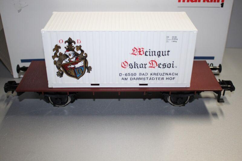 Märklin 5410 2-Achser Container Load Car Vineyard Oskar Desoi Gauge 1 Boxed