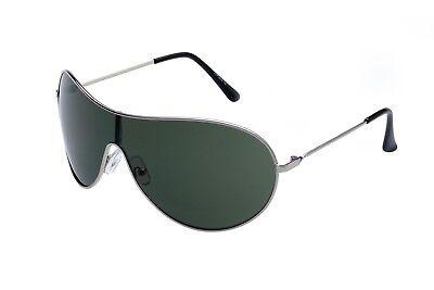 """Alpland   Sonnenbrille  """"TOP GUN """" GROßES  GLAS - Oliv gespiegelt"""