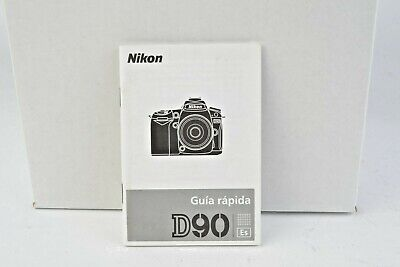 Nikon D90 Camera Instruction Manual User Guide SPANISH VGC (131) for sale  Shipping to India