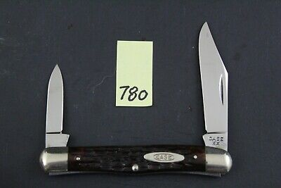 Case XX 1940-1964 6208 Vintage Red Bone Half Whittler Pocket Knife 780