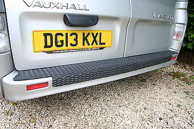 RENAULT TRAFIC REAR BUMPER PROTECTOR OVER THE EDGE DESIGN 2001 TO 2014