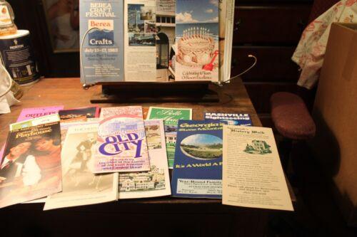 Vintage Lot of 20 Travel Souvenir Guides Pamphlets Maps