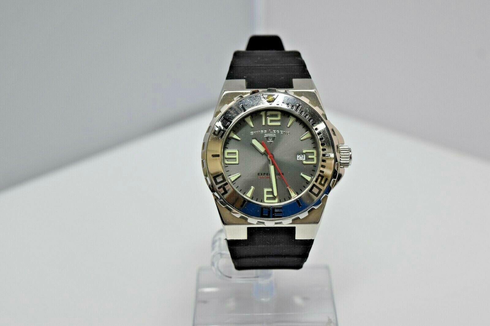Swiss Legend Expedition Sapphitek 48mm 200M SL-10008 Watch Black/Silver/Gray