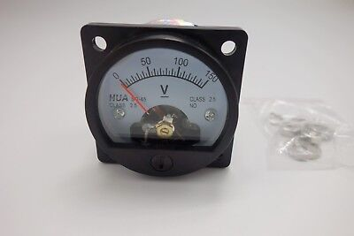 Dc 0-150v Analog Voltmeter Analogue Voltage Panel Meter So45 Directly Connect