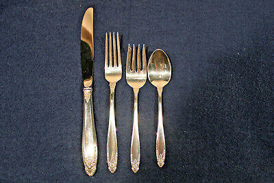 4 PIECE PLACE SETTING INTERNATIONAL STERLING SILVER PRELUDE PATTERN FLATWARE Prelude 4 Piece Place