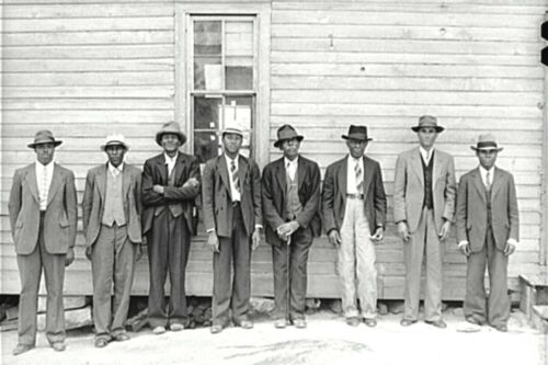 1941-The Deacons and Preacher at African American Church - Heard County, Georgia
