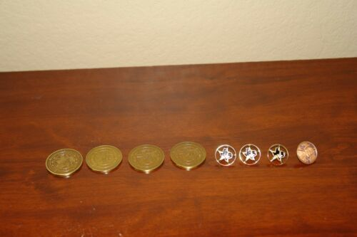 8-Texas Masonic Lodge Lapel Pins and Tokens. All Pre-owned.