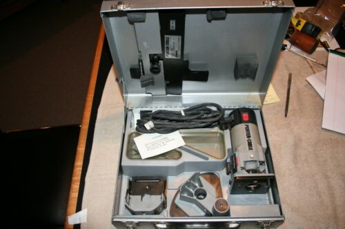 PORTER CABLE 7310 LAMINATING ROUTER KIT LIGHTLY USED IN METAL CASE