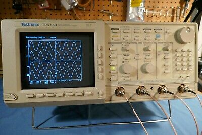 Tektronix Tds540 4 Channel 500mhz 1gss Oscilloscope Complete With Probes