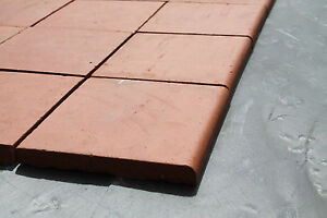 Reproduction Red Quarry Tiles (Single Bullnose)