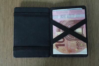 Magische Geldbörse mit Kleingeld Münzfach, Portemonnaie, Magic Flap RFID grau