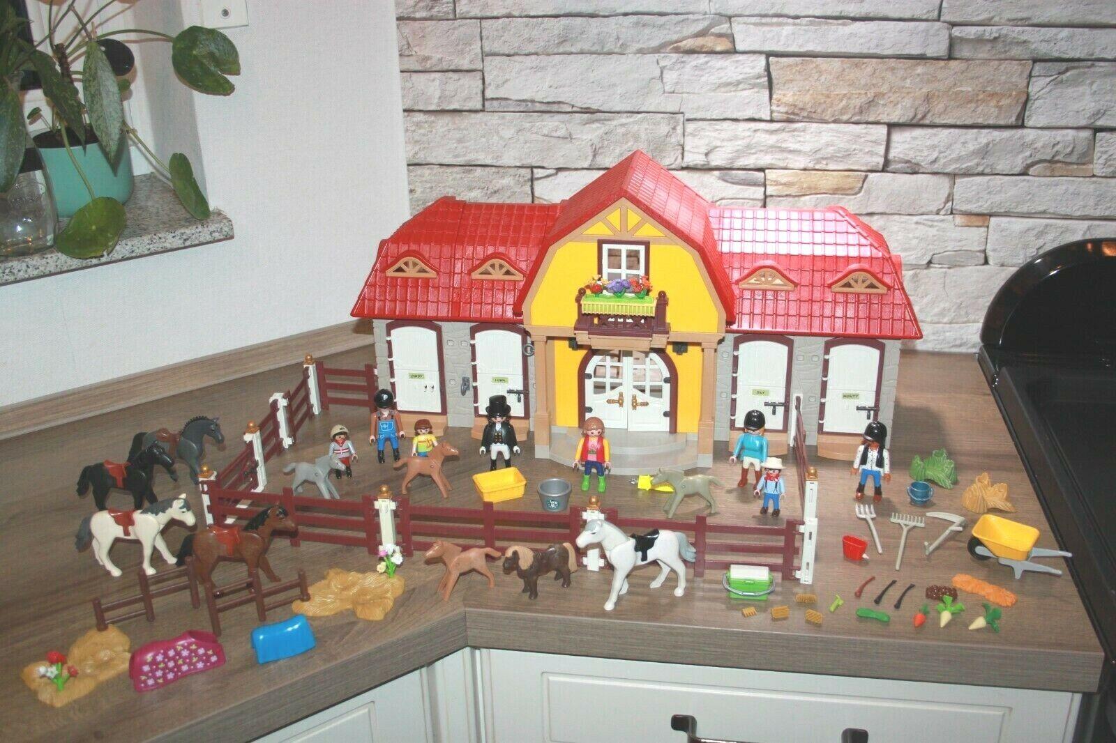 Playmobil großer Reiterhof 5221 mit Figuren Pferde Zubehör