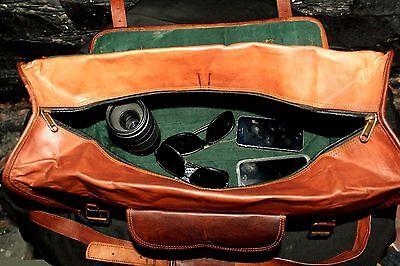Men's Leather Handmade Vintage Duffle Luggage Weekend Gym Overnight Travel Bag
