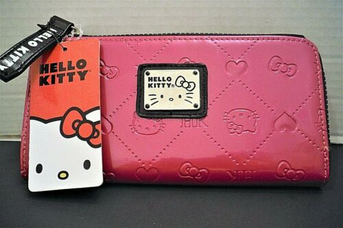 Sanrio Hello Kitty Dark Pink Zipper Wallet Model SIL 34114 New With Tag