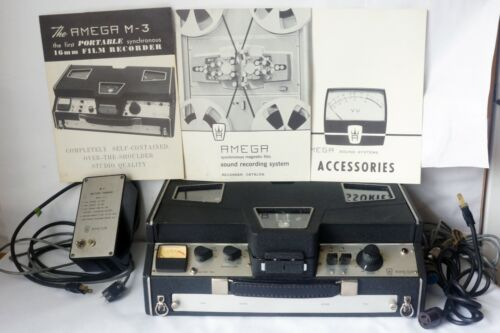 Vintage Amega M-3 Portable 16mm Film Synchronous Recorder Barely Used Made in US