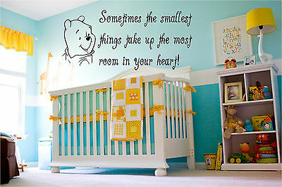 Winnie the Pooh and Saying Nursery Wall Sticker Baby Wall Stickers Nursery Decor