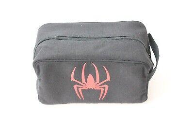 Red Spiderman Toiletry Makeup Organizer - Heavyweight Canvas Travel Dopp Kit - Spiderman Makeup