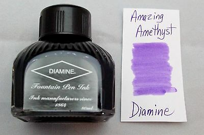 Diamine 80ml Fountain Pen Bottled Ink Amazing Amethyst