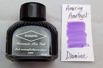 Diamine 80ml Fountain Pen Bottled Ink Amazing Amethyst