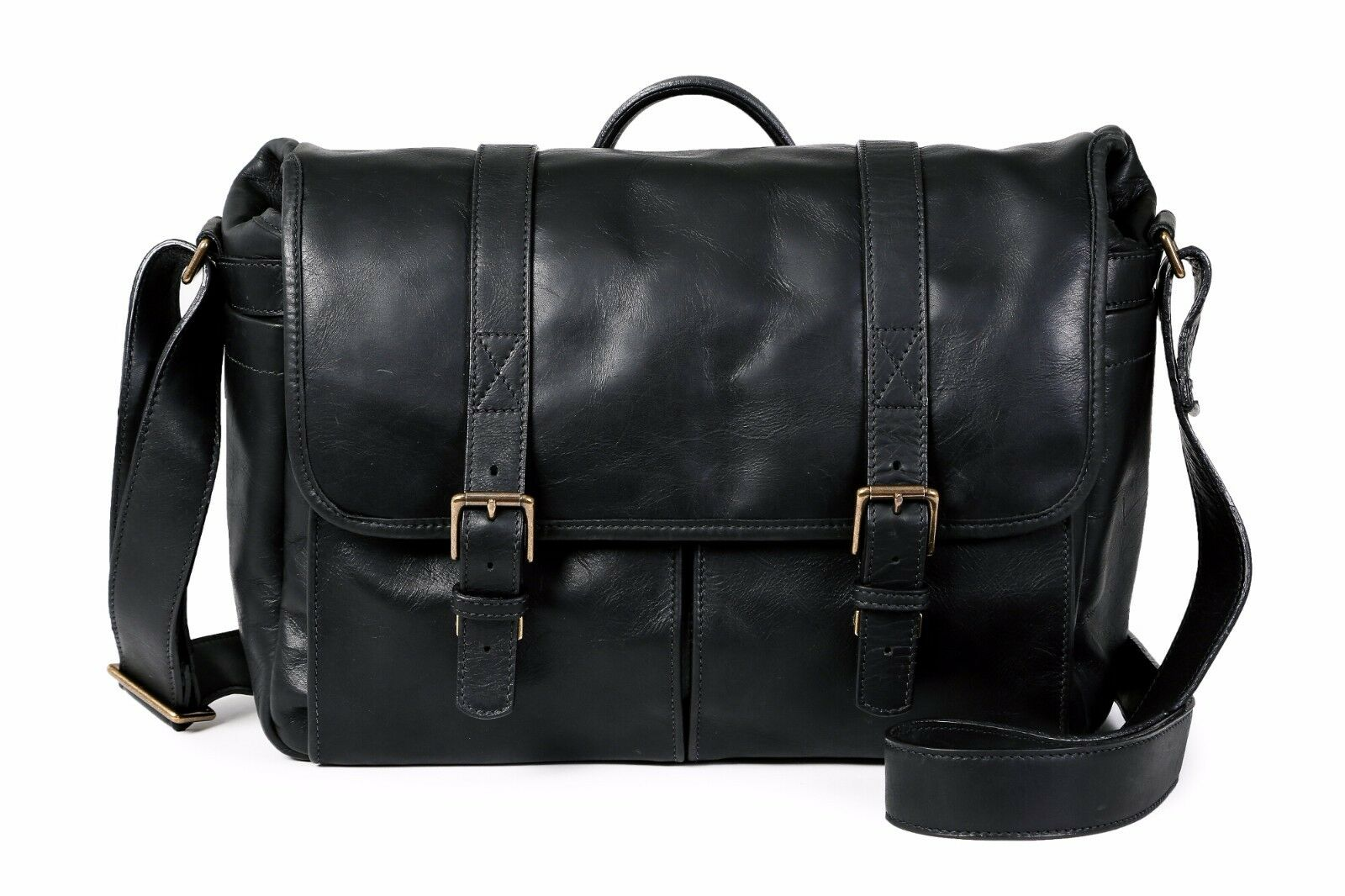 Ona Brixton Leather Camera Messenger Bag (Black) >Timeless Handcrafted Quality