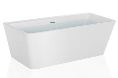 "Empava 67"" Freestanding Bathtub Acrylic White Modern Stand Alone SPA Soaking Tub"