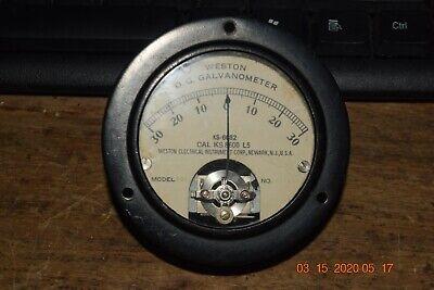 Rare Vintage Weston D. C. Galvanometer Ks-6082 Cal-ks-8600l5 Panel Meter