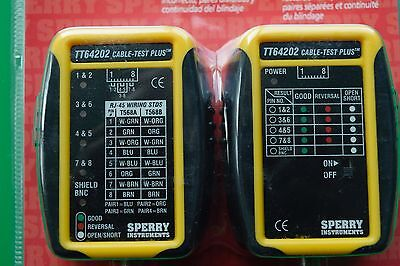 Coax And Cat3-6 Cable Tester - New By Sperry Instruments