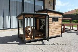 Large Wooden Pet Dog Kennel Crate Door Lock, In-built Storage, Window