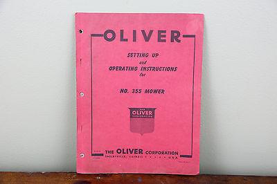 Oliver No. 355 Mower Tractor Operators Original Vitnage Service Parts Manual